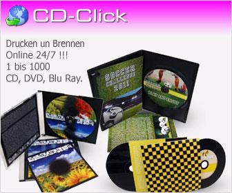 Personalisieren Sie Ihre CD DVD Blu-Ray Online 24/7 mit CD-Click