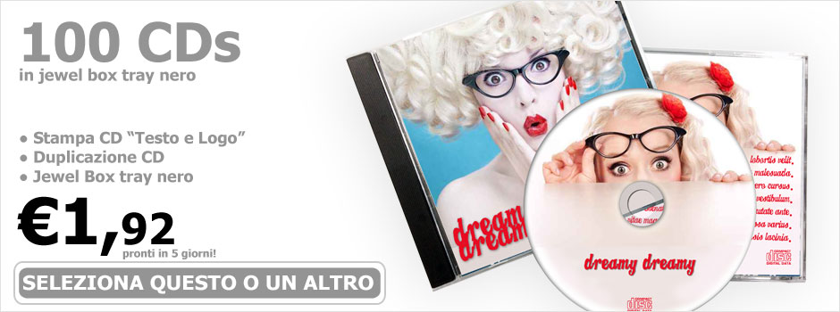 CD Click - Glass Master CD Audio - replicazione CD